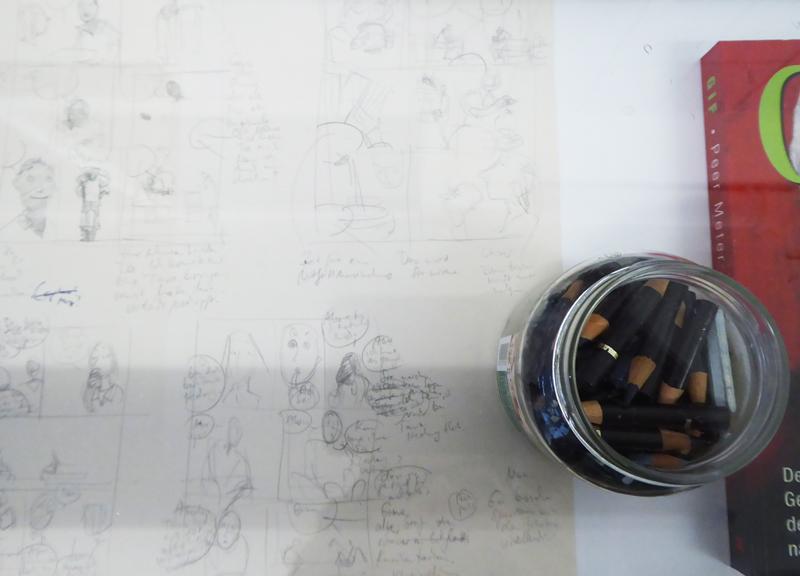 Barbara Yelin's Bleistiftstummelglas