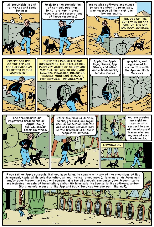 Comic by Robert Sikoryak
