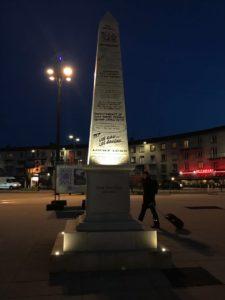 Ein Obelisk zu Ehren von René Goscinny